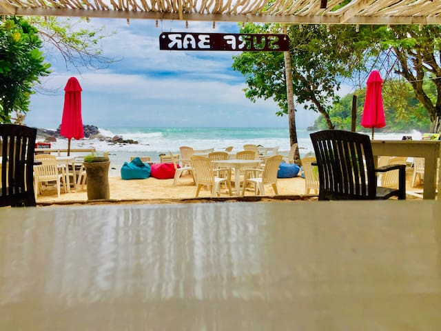 Our Resturent Located Directly On The Beach And Front Of The Main Mirissa Surf Point That Mean Can Surf and Have A Party Hard