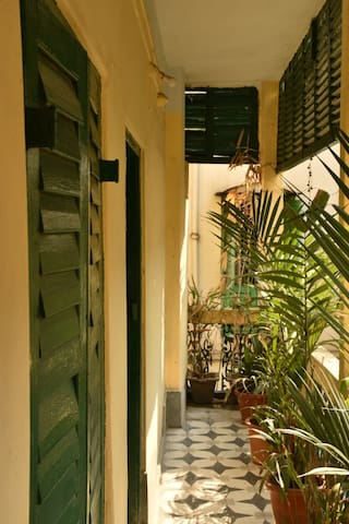 Old Kolkata remains alive in the well connected corridors and rooms of this renovated heritage home.