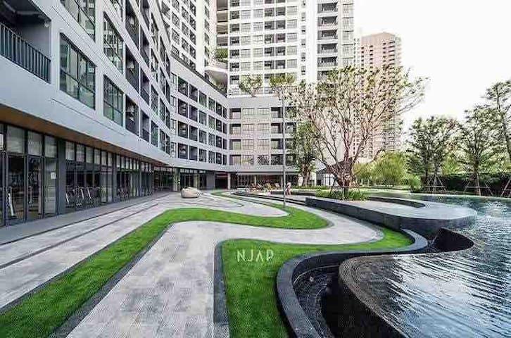近天铁Bangna站曼谷会展中心豪华泳池森林公园自行车步道滑板场