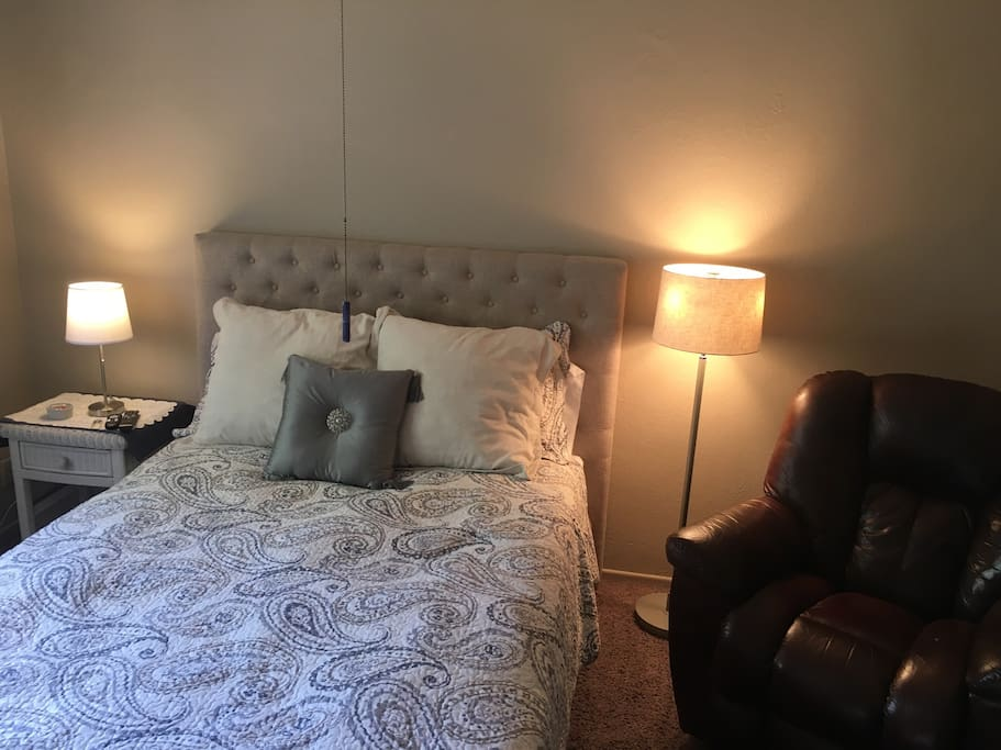 Your private room with queen bed
