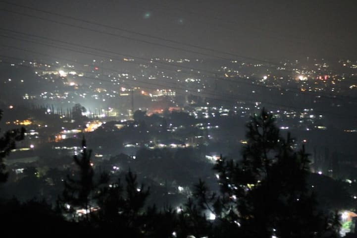 View during night time