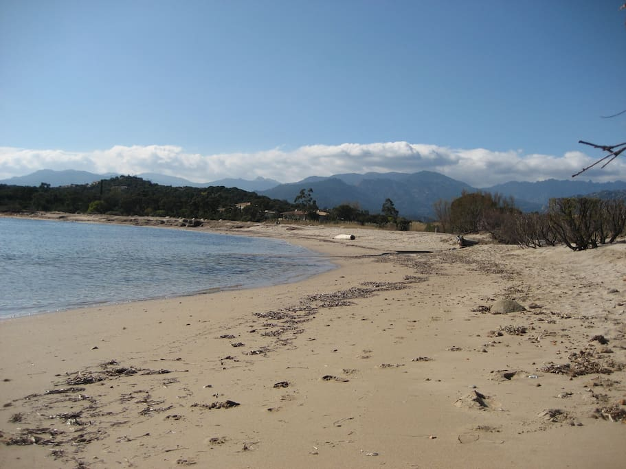 accès direct plage Vardiola