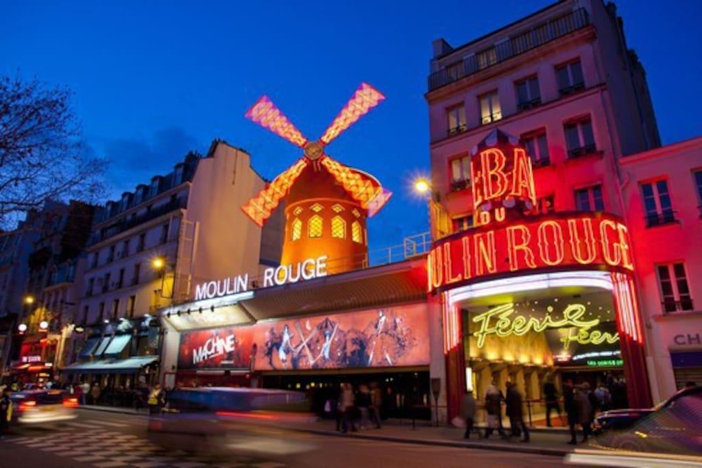 Moulin Rouge, 380 mètres.