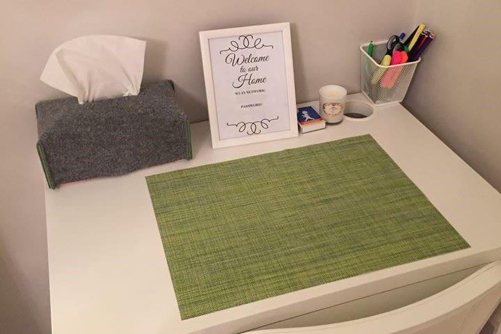 Skrivbord eller arbetsplats vid behov.  Desk or workplace if required.