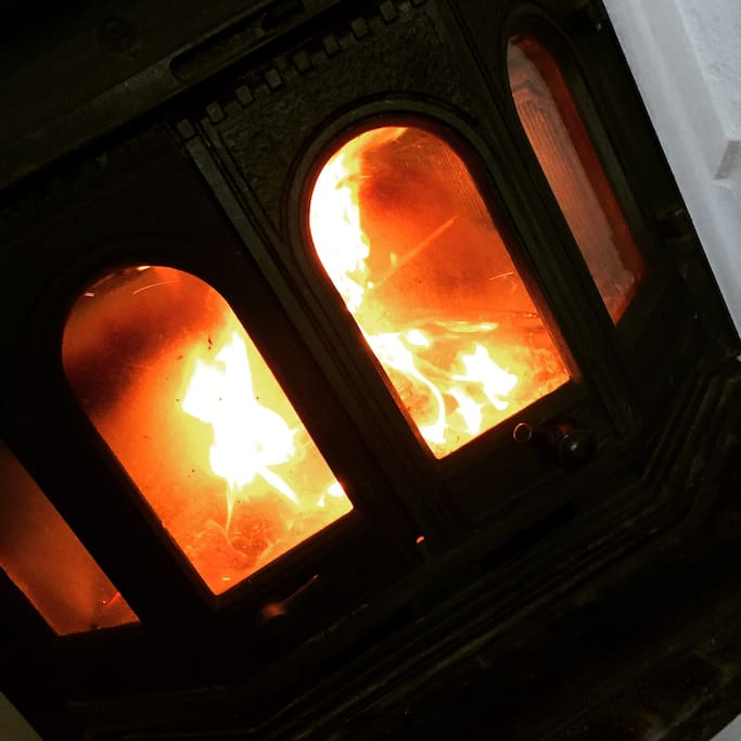 Fire place in use whenever there are cold days. Excellent together with a good book, puzzles or just a coffe or tea. Relax.