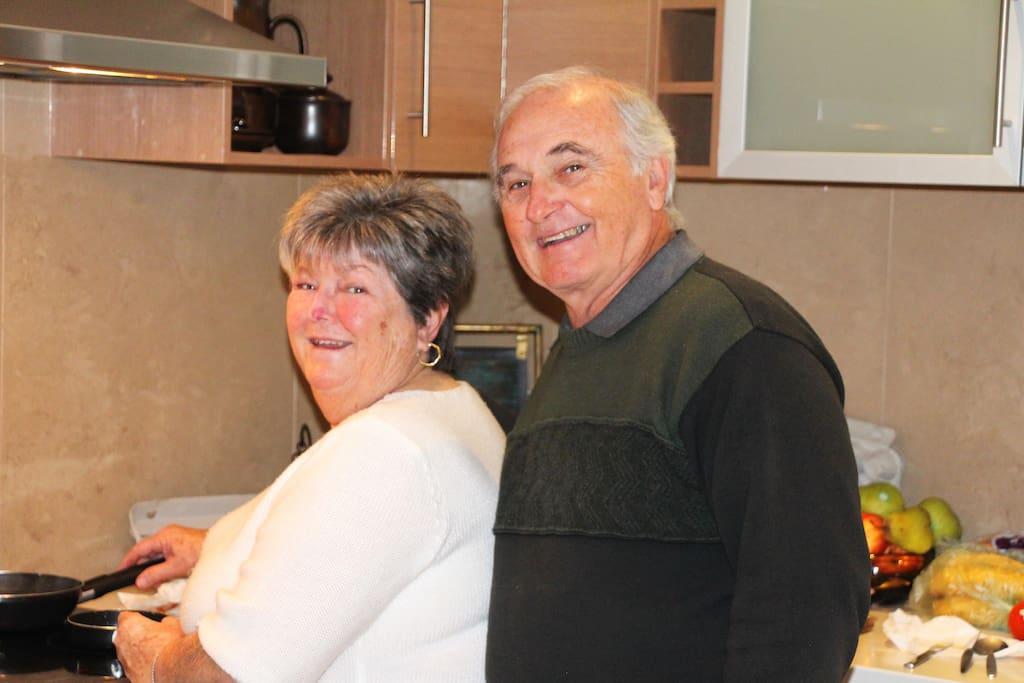 Hosts Alf & Margaret