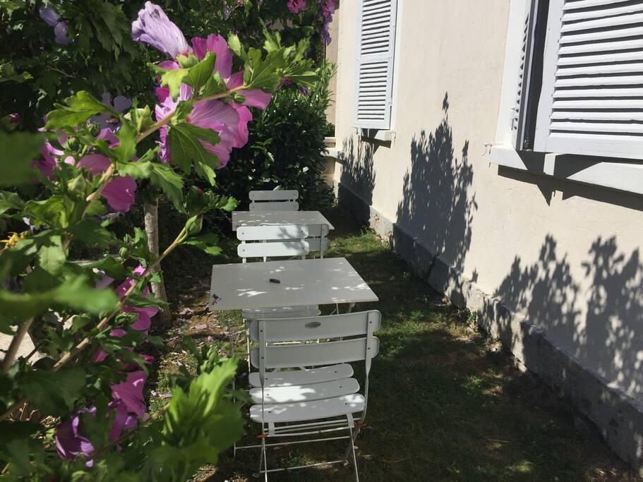 La terrasse privative de votre appartement.