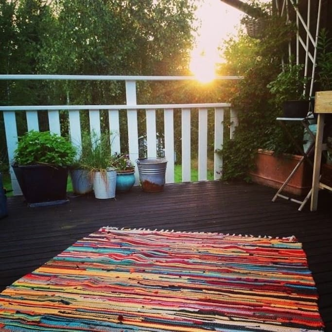 Our veranda where we spend most of our summers.