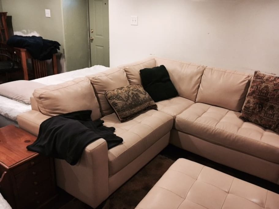 Lower level: Sofa for relaxing
