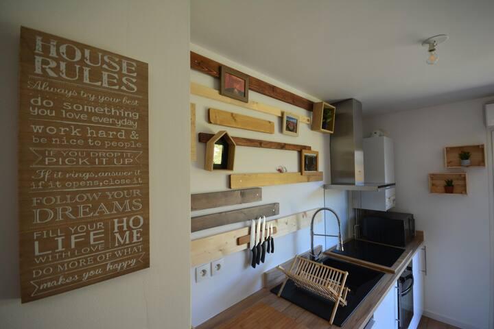 Appartement calme avec jardin, proche de Bordeaux - Artigues-près-Bordeaux - Apartment