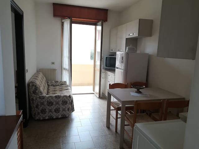 Apartment with 2 bedrooms, living and balcony