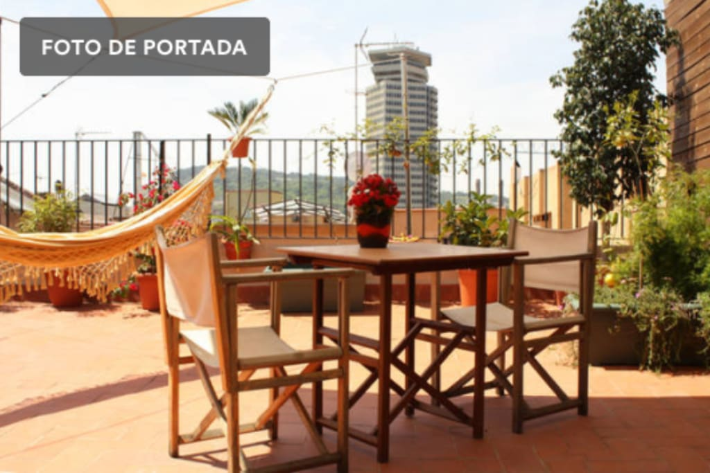 Private terrace of the apartment