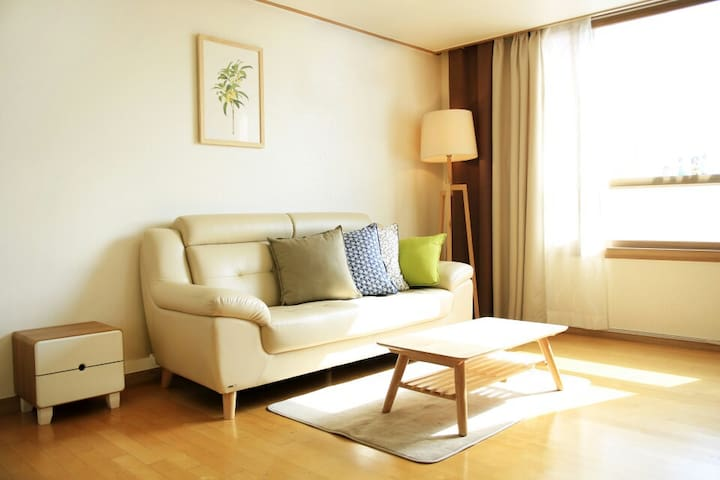 Living room ,comfortable 2bedroom _ Seoul Station - Jung-gu - Daire