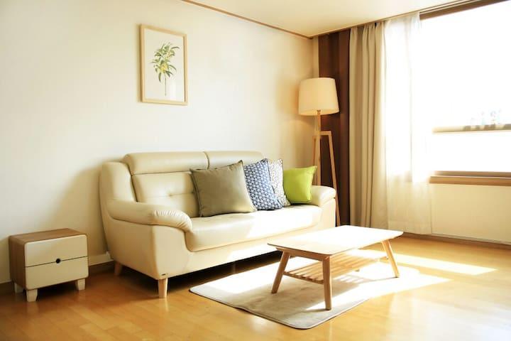 Living room ,comfortable 2bedroom _ Seoul Station - Jung-gu - Byt