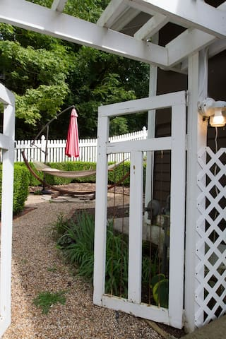 The gateway to the large backyard.