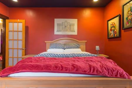 2nd Floor North (Red) Bedroom - Cliffside Park
