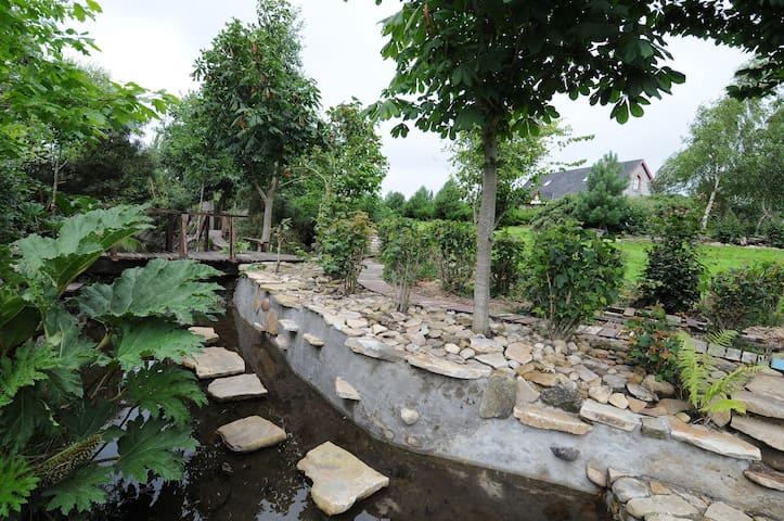 Architect designed house and award winning garden. - Clonaslee - House