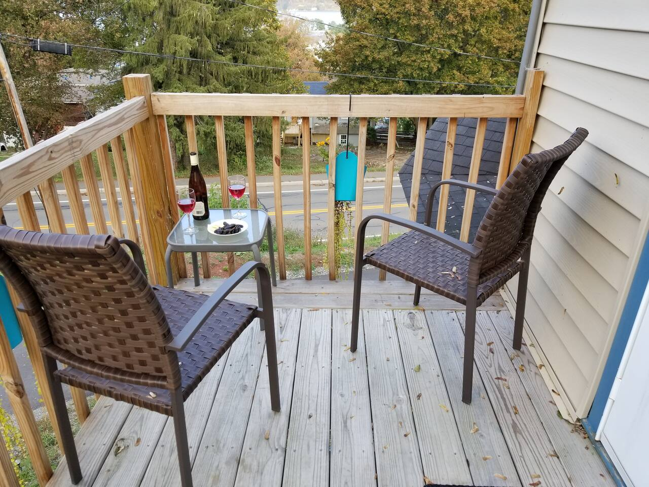 Our upper deck is the perfect place to relax and sip some wine