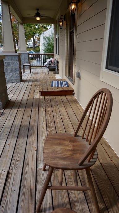 Great front porch to relax on.