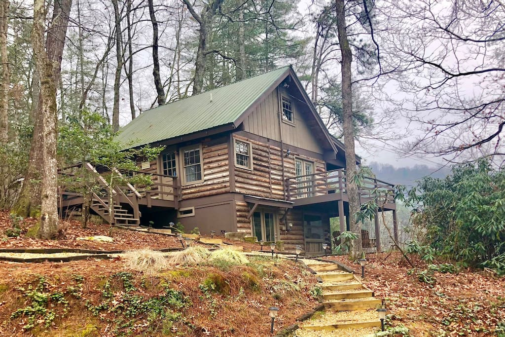 The entire rustic, comfortable cabin on three levels is available for your enjoyment.