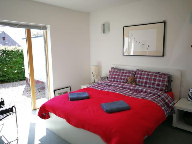 Modern cosy room in rural village