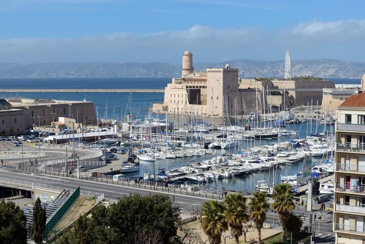 Magnifique vue Port- à 50 mètres du Vieux Port