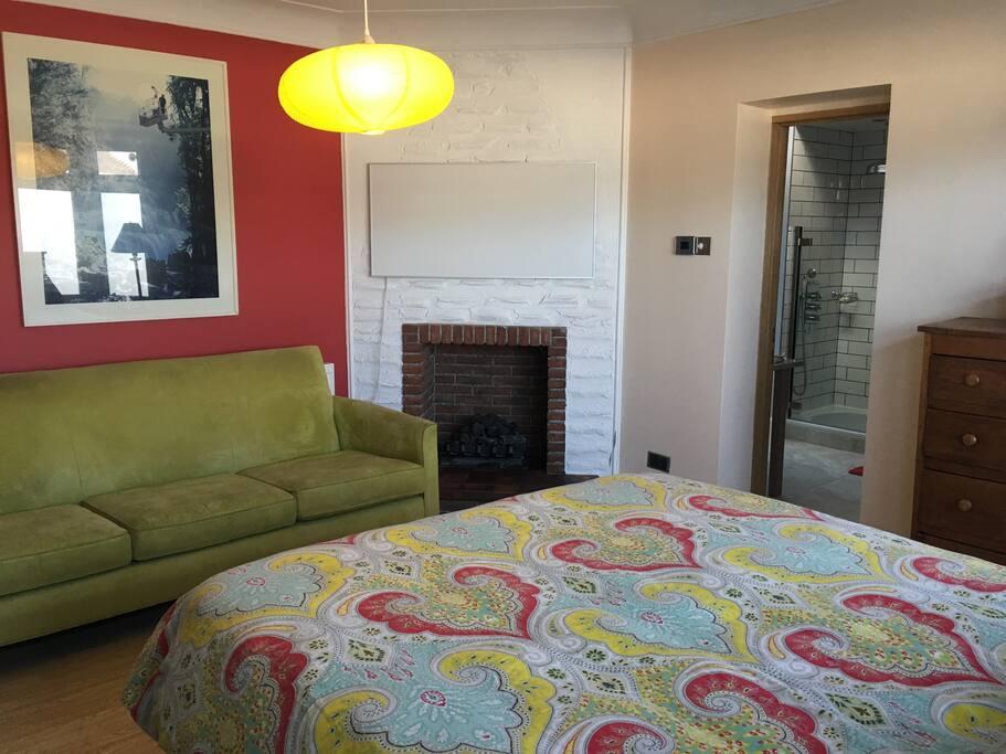 Sofa in the bedroom.