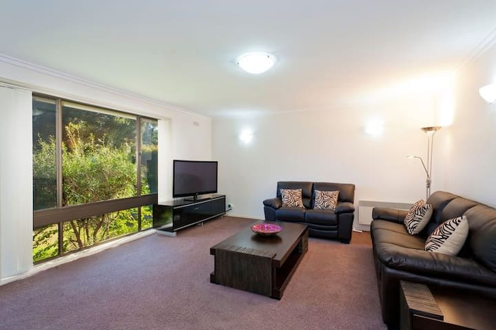 Beautifully furnished  with leather lounges