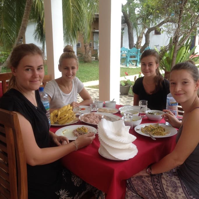 Getting lunch in Freedom lodge