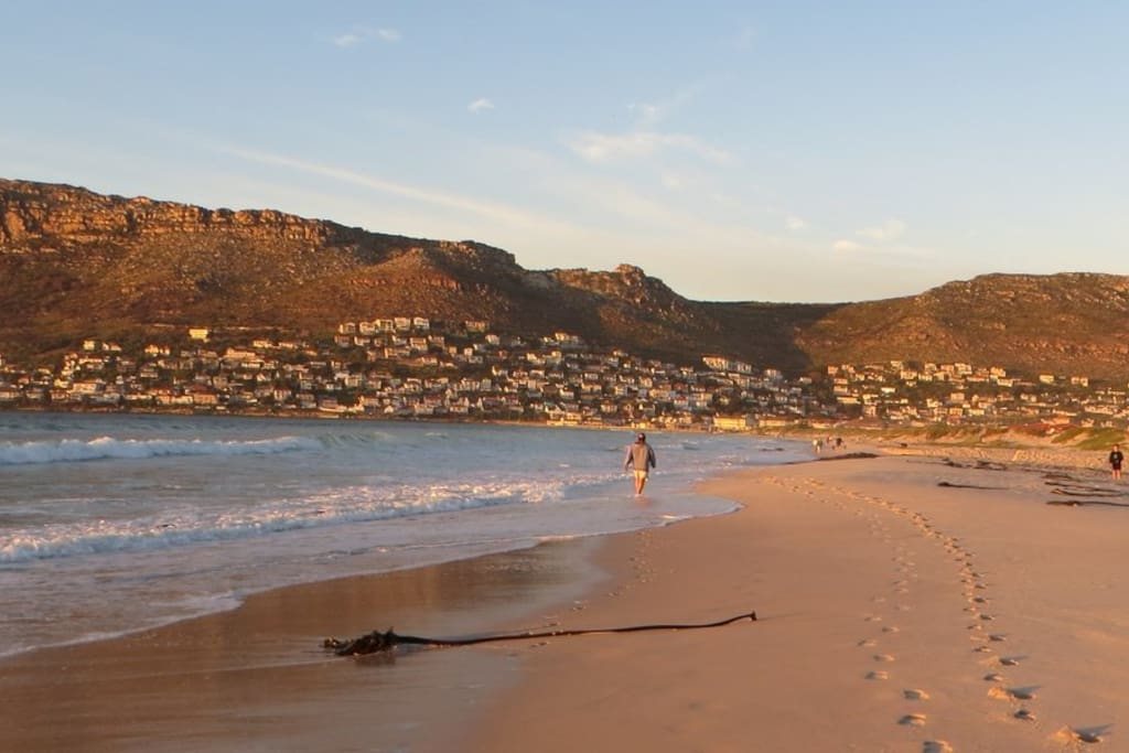 The stunning beach is perfect for swimming or evening strolls.