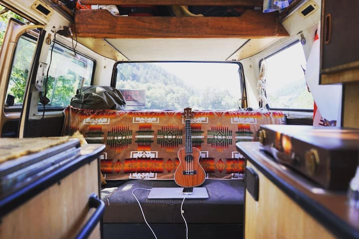 Mountainside Glamping in a Vintage VW Van