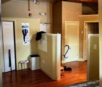 Spacious exposed beam loft studio great for couple