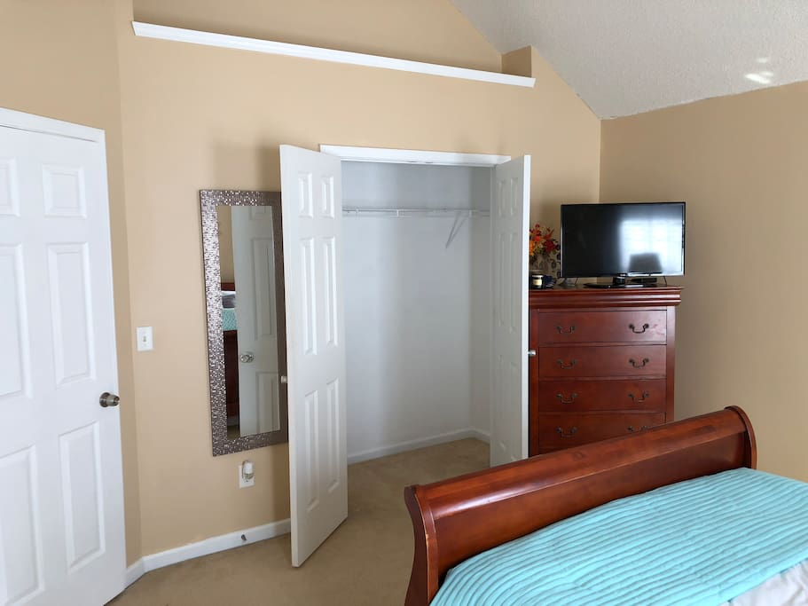 Private room with closet and TV