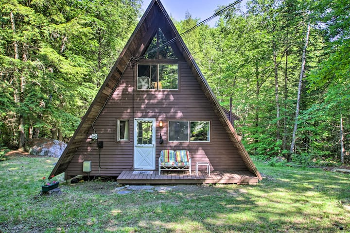 NEW! Quiet A-Frame Cabin on Creek w/ Private Deck!