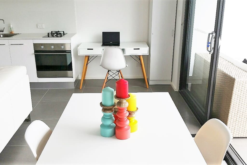 The apartment has a lovely design and flow and has quality fittings & fixtures & furnishings throughout