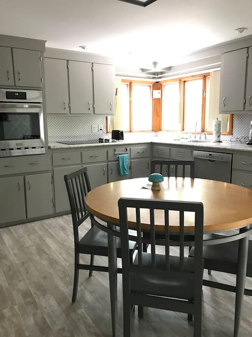 Sunny, spacious kitchen for your stay