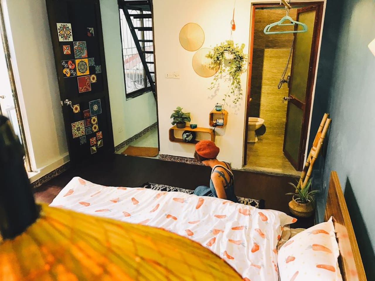 Lovely bedroom on 3rd Floor - 1 King Bed - 1 Sofa Bed - Private Bathroom