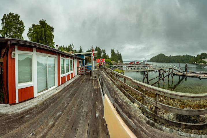 Boardwalk Bliss.  View from the front deck towards the general store.