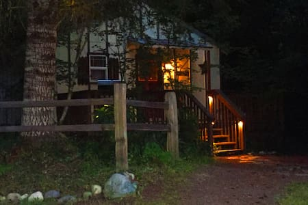 Romantic cabin Mt. Rainier with private hot tub! - Ashford