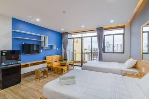 Cho thuê căn hộ 2 giường ngủ, Trần Hưng Đạo, 400k