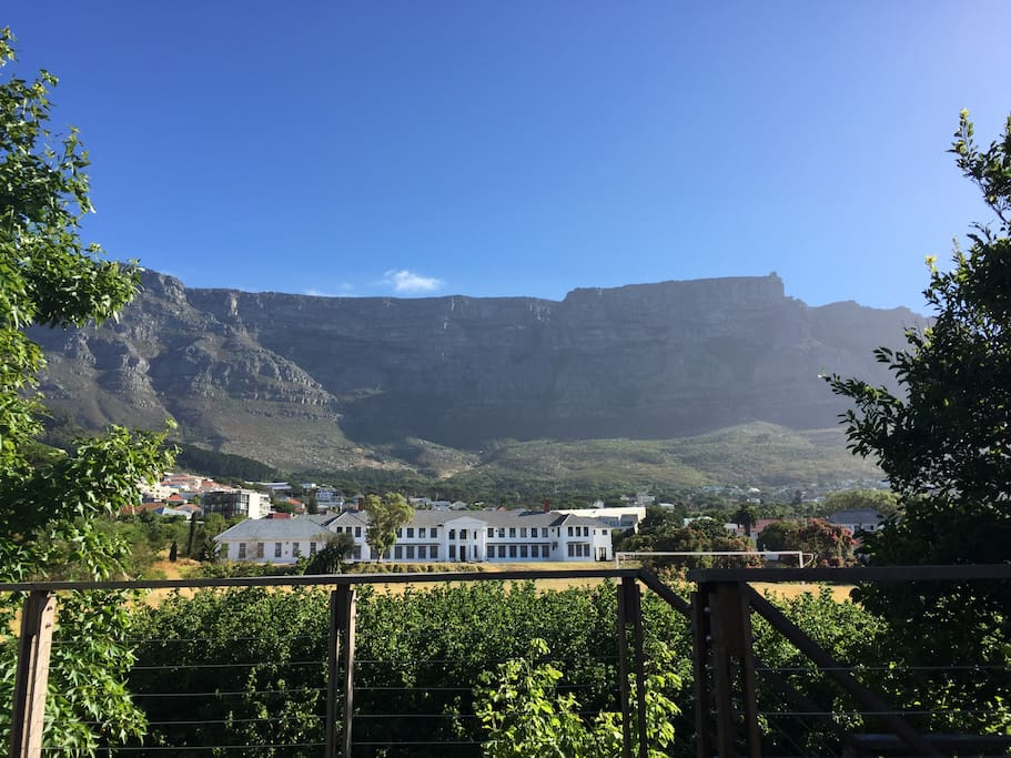 Spectacular views of Table Mountain from the deck