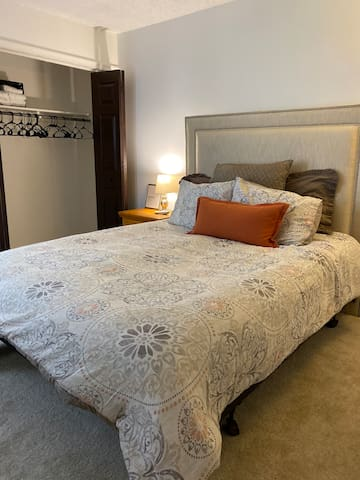 master bedroom downstairs; with sleep number queen mattress
