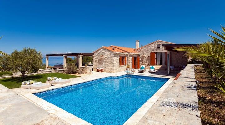 Luxury Villa Orgula with private pool by the sea on Korcula island - Vela Luka - Prigradica