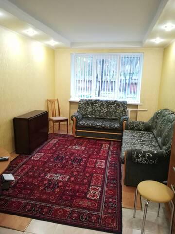 Большая и обустроенная квартира в центре Гомеля.