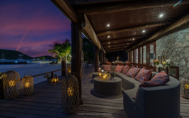 Luxury private Beach House with private dock