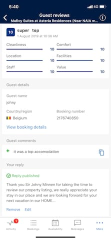Recent review from one of our Awesome guest, Thanks to Mr. Johny Minnen from Belgium