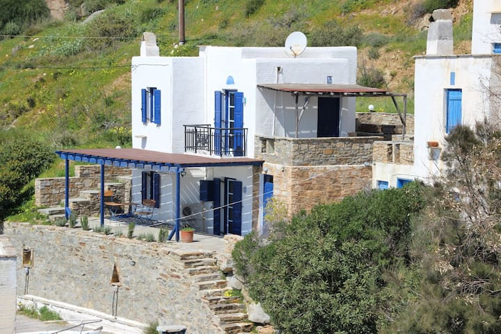 Cycladic home with fantastic sea view