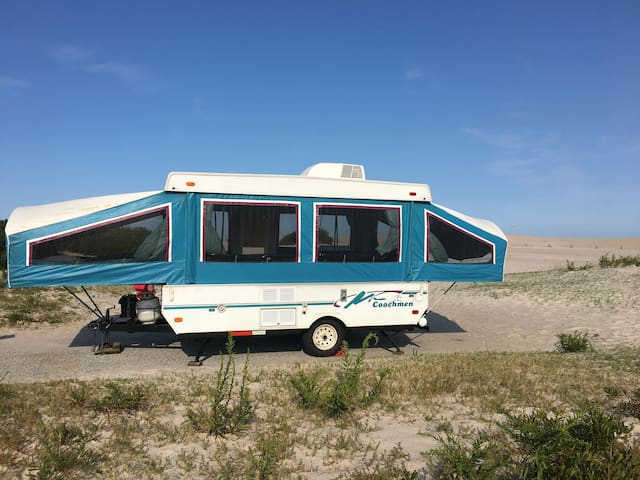 Renovated Pop-Up Camper – Delivered Right to You!