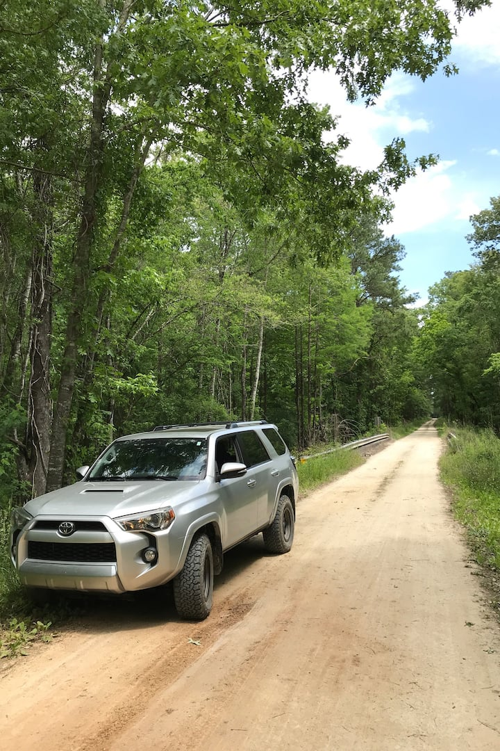 Dirt road trails are lots of fun.