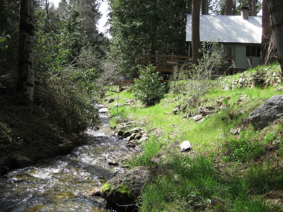 Creek and cabin